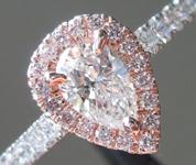 0.47ct E VS1 Pear Shape Diamond Ring R9700