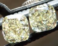 2.03ct Y-Z Cushion Cut Diamond Earrings R9754