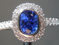 1.10ct Blue Oval Shape Sapphire Ring R9649