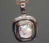 0.31ct Pink I1 Cushion Cut Diamond Pendant R9707