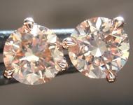 SOLD....1.42ctw Brown VS Round Brilliant Diamond Earrings R9384