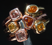 SOLD... 0.95ctw Fancy Colored Diamond Ring R9762