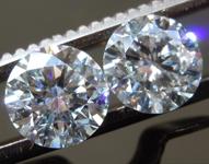 3.01ctw F SI1 Round Brilliant Lab Grown Diamond Earrings R9794