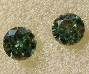 0.68ctw Green SI1 Lab Grown Diamond Earrings R9798