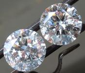 4.83ctw F I1 Round Brilliant Lab Grown Diamond Earrings R9791