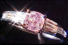 SOLD....Ring- GIA .51ct Fancy Light Purplish Pink Cushion Diamond Ring R1488