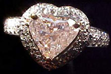 SOLD...1.21ct Light Pink Heart Diamond R1533