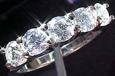 Diamond Band- Special Order-1.00ctw Five Diamond Band