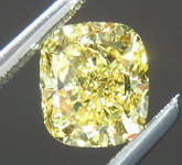GIA 1.01ct VS2 GIA Cushion Vivid Yellow Diamond Ring R1709
