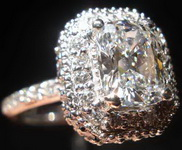 SOLD......Ring Special: GIA 1.27ct D/I1 Cushion Cut Diamond PILLOW HALO RING R1878