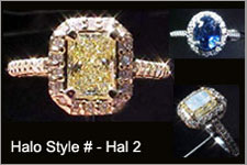 DISCONTINUED Semi Mount- #Hal2- this casting semi suits many diamond shapes