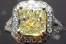 SOLD....Halo Ring: Radiant Diamond Custom Halo Ring- TRADE UP SPECIAL R1800