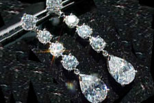 SOLD...Earrings: GIA Matching Pair of F color Pear Shape Diamonds in PLATINUM Gizmos R1869