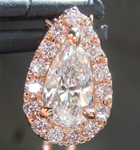 SOLD....Colorless Diamond Pendant: .53ct D VVS1 Pear Shape Diamond Halo Pendant GIA R4954