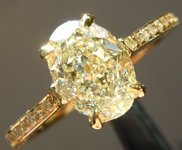 SOLD....Yellow Diamond Ring: 1.60ct W-X VS2 Oval Shape Diamond Ring GIA R6452