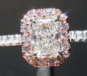.72ct H SI1 Radiant Cut Pink Diamond Ring GIA R6896