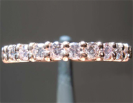 SOLD...0.38ctw Light Purplish Pink Round Brilliant Diamond Band R7841