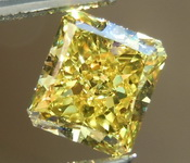 SOLD.....Loose Yellow Diamond: .96ct Fancy Vivid Yellow VS1 Radiant Cut Diamond GIA R1487