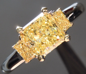 Yellow Diamond Ring: 1.02ct Fancy Intense Yellow SI2 Radiant Cut Diamond Ring GIA R2151