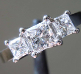 0.71ctw F-G SI1 Princess Cut Diamond Ring R2170