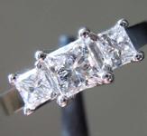 0.71ctw F-G SI1 Princess Cut Diamond Ring R2170