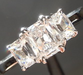 Colorless Diamond Ring: .50ct D VS1 Cushion Cut Three Stone Diamond Ring GIA R2726