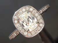 Halo Diamond Ring CLOSE OUT Special: .75 Cushion Diamond Halo Ring 18kt white gold R2728