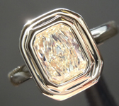Yellow Diamond Ring: .79ct W-X SI1 Radiant Cut Diamond Ring GIA R3255