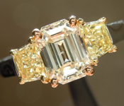 1.10ct K SI2 Emerald Cut Diamond Ring R3513