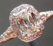 Diamond Halo Ring: .65ct J SI2 Cushion Brilliant Diamond Halo Ring GIA R3623