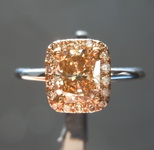SOLD...1.02ct Deep Brown-Yellow Radiant Cut SI2 Diamond Ring R3760