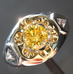 0.57ct Vivid Yellow Round Brilliant Diamond Ring R4432