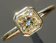 SOLD............Yellow Diamond Ring: 1.03ct Fancy Light Yellow VVS1 Radiant Cut Diamond Ring GIA R4522