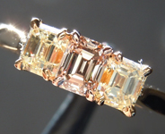 0.39ct Fancy Brown SI1 Emerald Cut Diamond Ring R4797