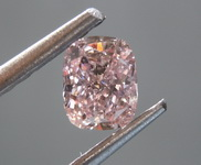 Loose Pink Cushion: .41ct Fancy Pinkish-Brown SI2 Cushion Cut GIA Beautiful Cut R4819