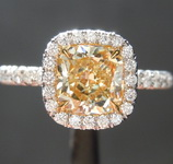 SOLD...1.25ct Yellow VS2 Cushion Cut Diamond Ring R4987