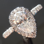 1.02ct E SI2 Pear Shape Diamond Ring R5305