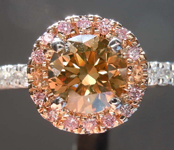 1.15ct Brown-Yellow SI1 Round Brilliant Diamond Ring R5414