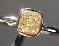 SOLD......Yellow Diamond Ring: 1.20ct Y-Z VS1 Cushion Modified Brilliant Diamond Ring GIA R5748