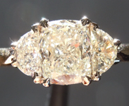 Diamond Ring:1.00ct J VS1 Cushion Cut Three Stone Diamond Ring GIA R5783