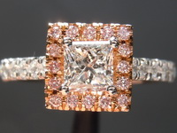 0.53ct E Internally Flawless Princess Cut Diamond Ring R5801