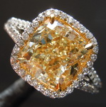 3.01ct Fancy Light Yellow SI1 Cushion Cut Diamond Ring GIA R5844