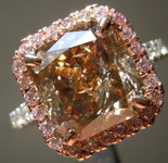 4.01ct Fancy Yellow Brown I2 Radiant Cut Diamond Ring R5953