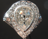 1.70ct I SI2 Old Cut Pear Diamond Ring GIA R5955