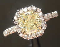1.00ct Fancy Yellow SI2 Radiant Cut Diamond Ring R5964