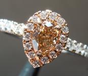 0.47ct Yellow Brown VS2 Pear Shape Diamond Ring R6135