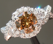 1.06ct Brown I1 Round Brilliant Diamond Ring R6187