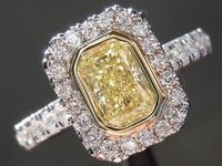 Yellow Diamond Ring: .62ct Fancy Yellow SI1 Radiant Cut Diamond GIA R6238