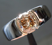 SOLD...2.07ct Dark Yellowish Brown SI2 Cushion Cut Diamond R6301