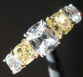 2.40ct tw Canary and Colorless Diamond Ring R6320